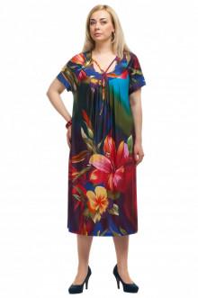 """Платье """"Олси"""" 1605033 ОЛСИ (Цветы крупные)"""